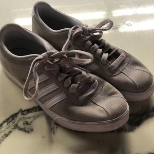 Grey/white adidas comfortable bed shoes size 6 $18